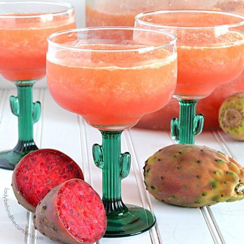 Sparkling Prickly Pear Cactus Slush Punch
