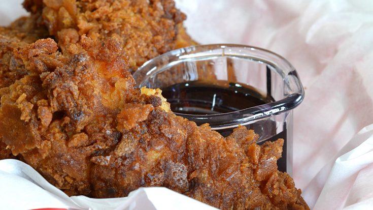 Waffle Cone Fried Chicken Tenders