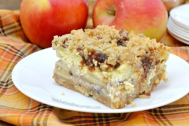 Caramel Apple Pie Cheesecake Bars
