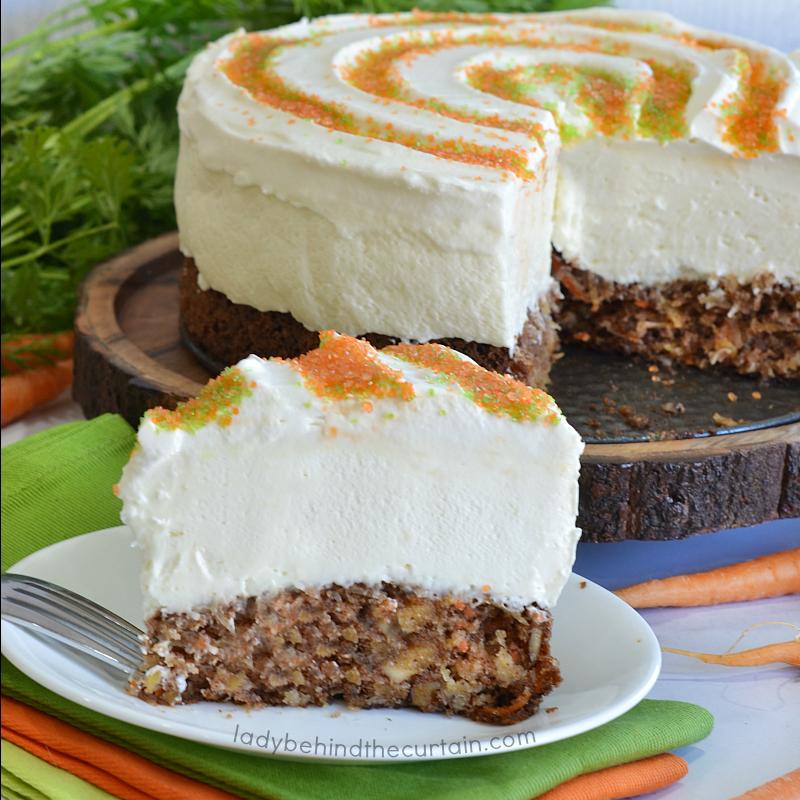 Carrot Cake No Bake Cheesecake