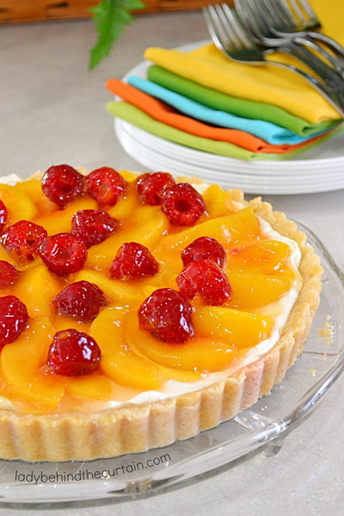 Peaches and Cream Tart