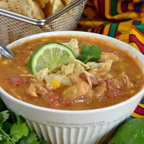 Semi Homemade Pantry Chicken Tortilla Soup