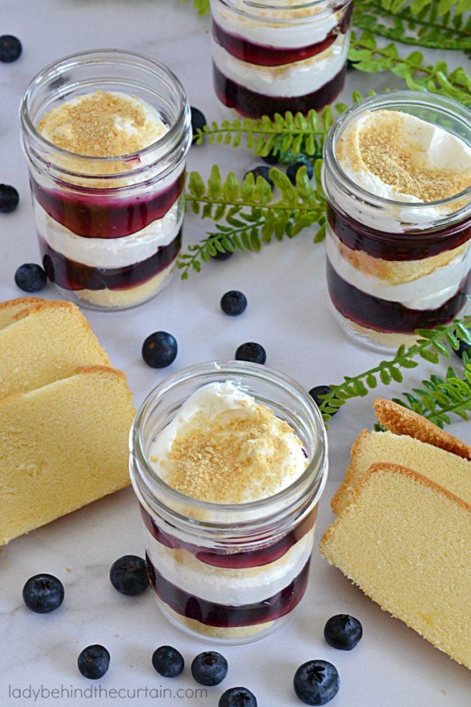 Blueberry Cheesecake Dessert in a Jar