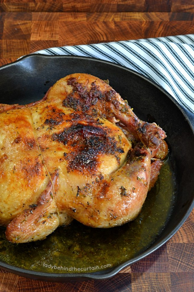 Citrus Beer Brinned Smoked Chicken