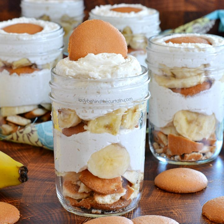 Vanilla Mousse Banana Dessert in a Jar