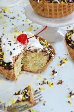 Semi Homemade Banana Split Mini Cakes