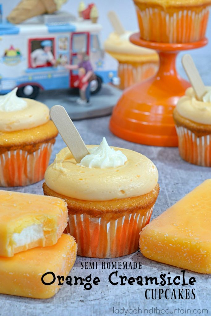 Semi Homemade Orange Creamsicle Cupcakes
