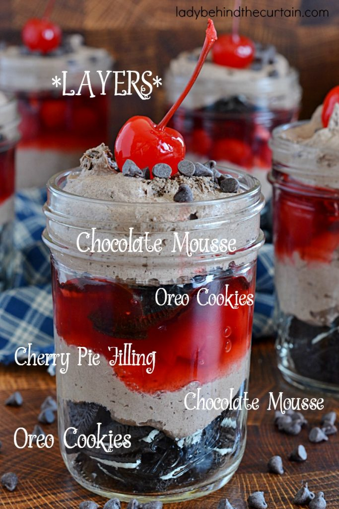 Black Forest Chocolate Mousse Dessert Cups