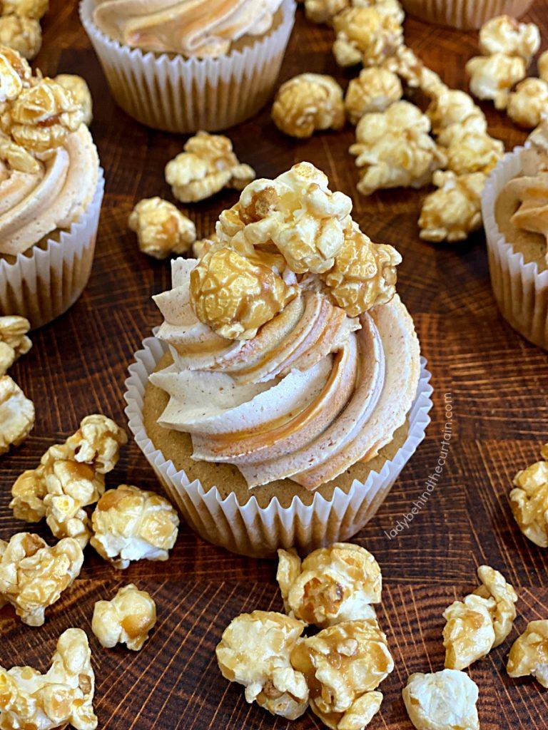 Caramel Corn Cupcakes