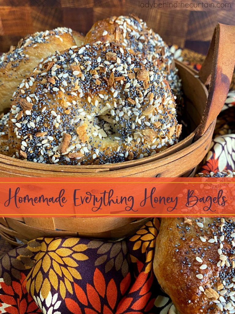 Homemade Everything Honey Bagels