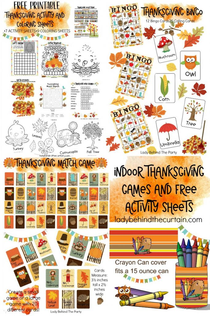 Indoor Thanksgiving Games And Free Activity Sheets