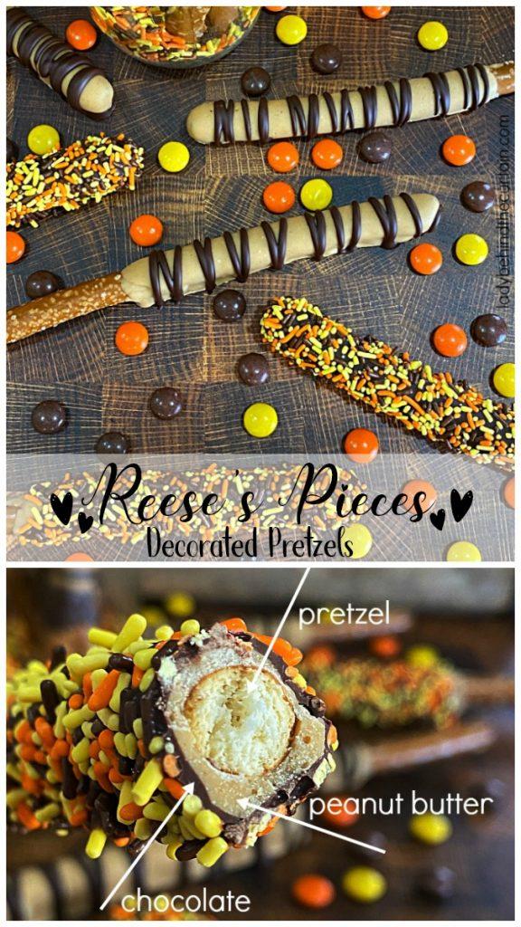 Reese's Pieces Decorated Pretzels