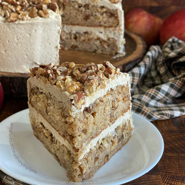 Traditional Apple Spice Cake with Brown Sugar Frosting