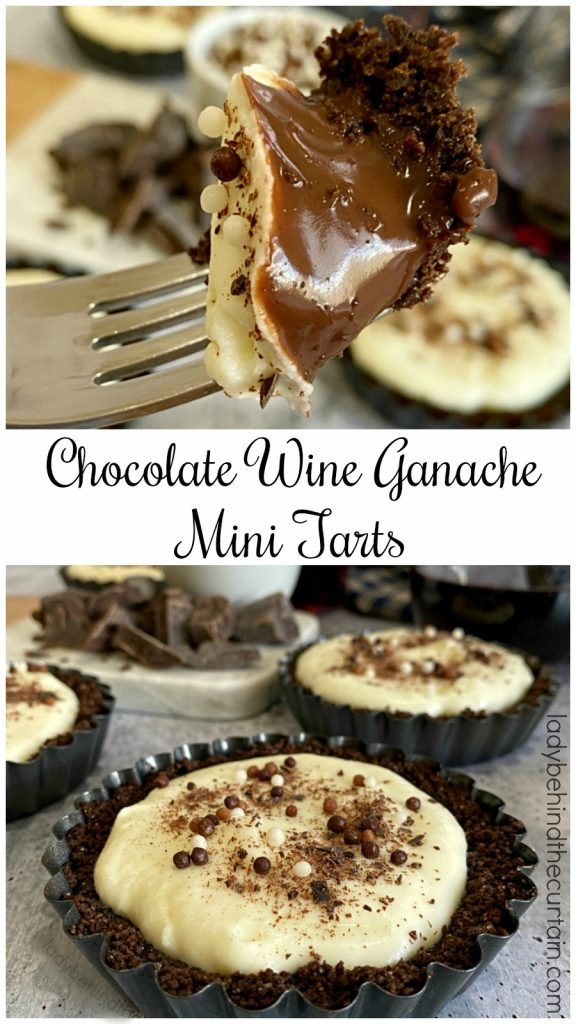 Chocolate Wine Ganache Mini Tarts