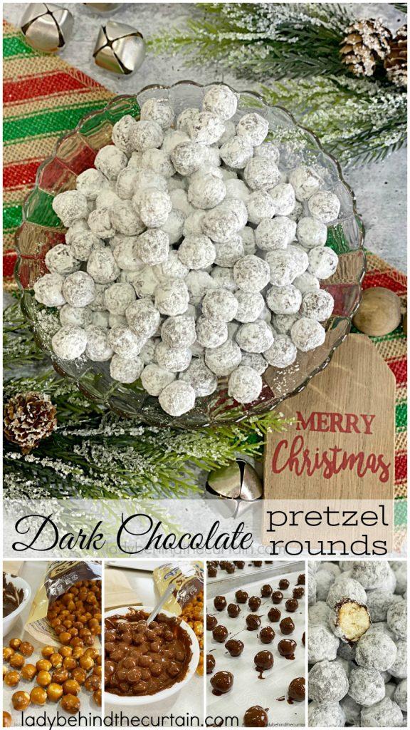 Dark Chocolate Pretzel Rounds