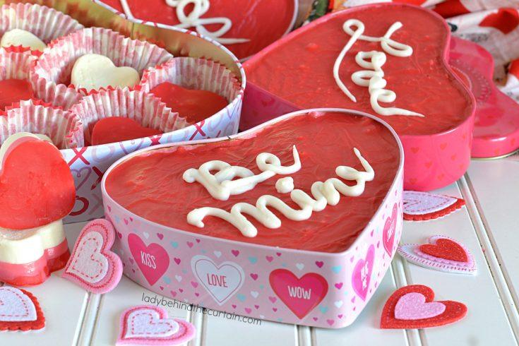 Conversation Heart Marshmallow Cherry Valentine's Day Fudge