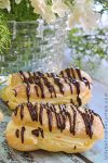 Orange Cream Chocolate Eclairs
