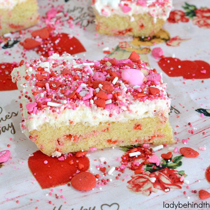 Valentine's Day Sugar Cookie Bars