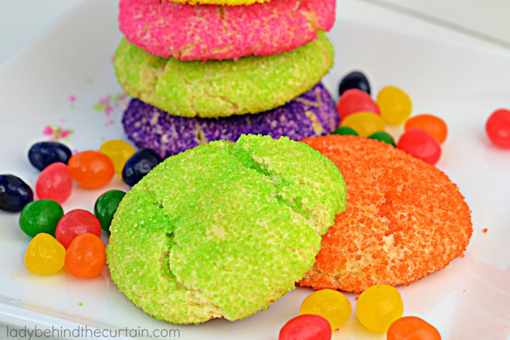 Soft Jelly Bean Sugar Cookies