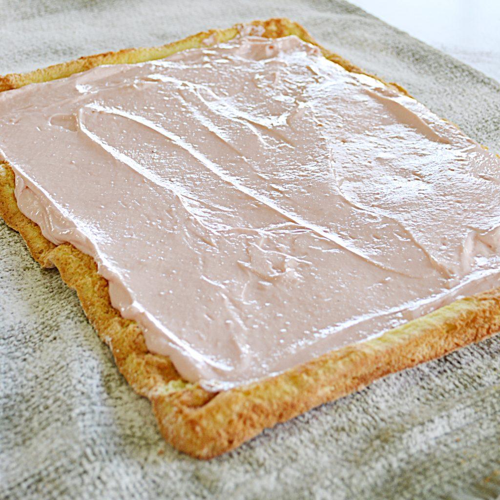 Strawberry Marshmallow Cake Roll