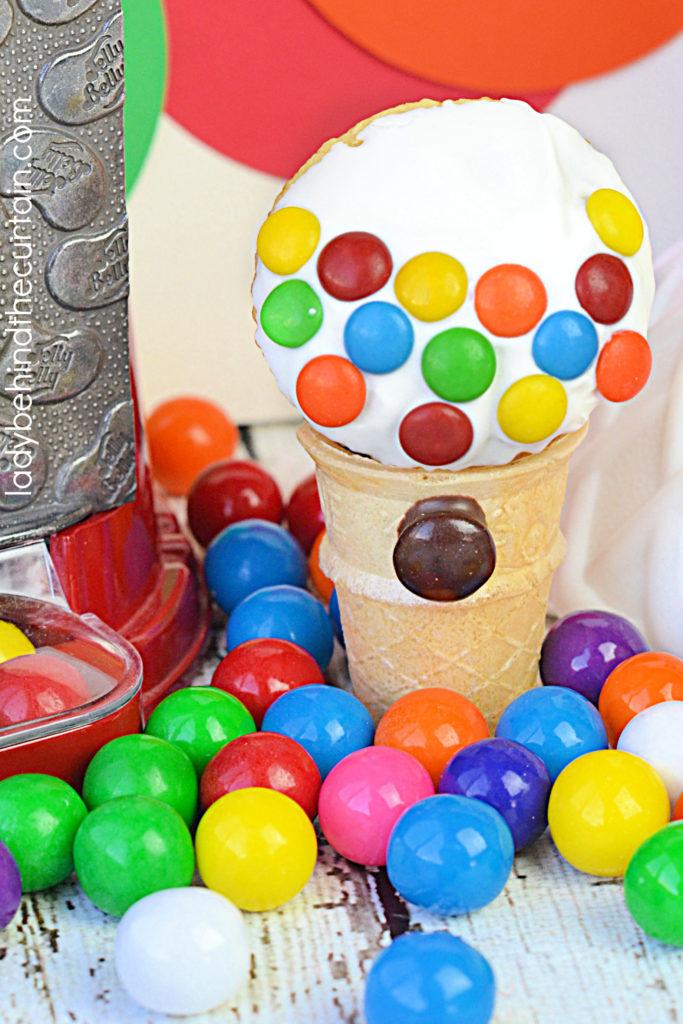 Mini Gumball Machine Cupcakes