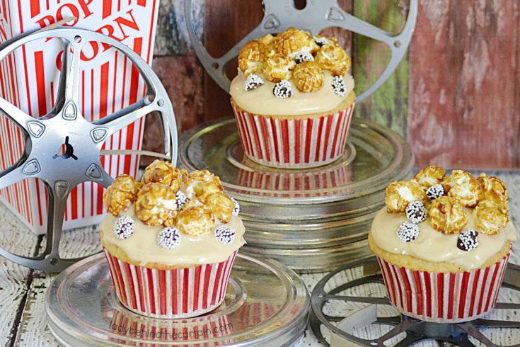 Movie Night Vanilla Caramel Cupcakes