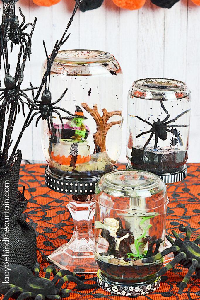 DIY Halloween Party Snow Globes