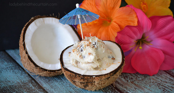 Homemade Almond Joy Ice Cream