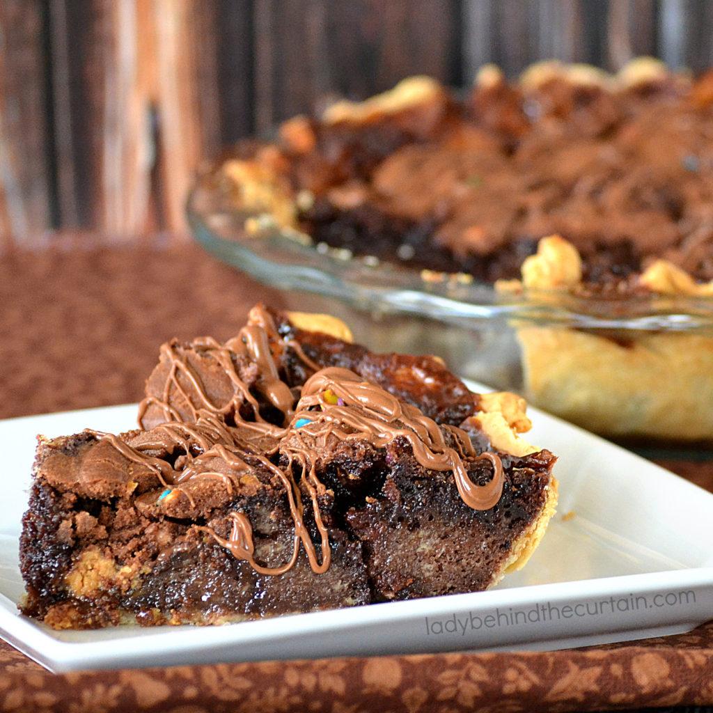 Peanut Butter Chocolate Cupcake Pie