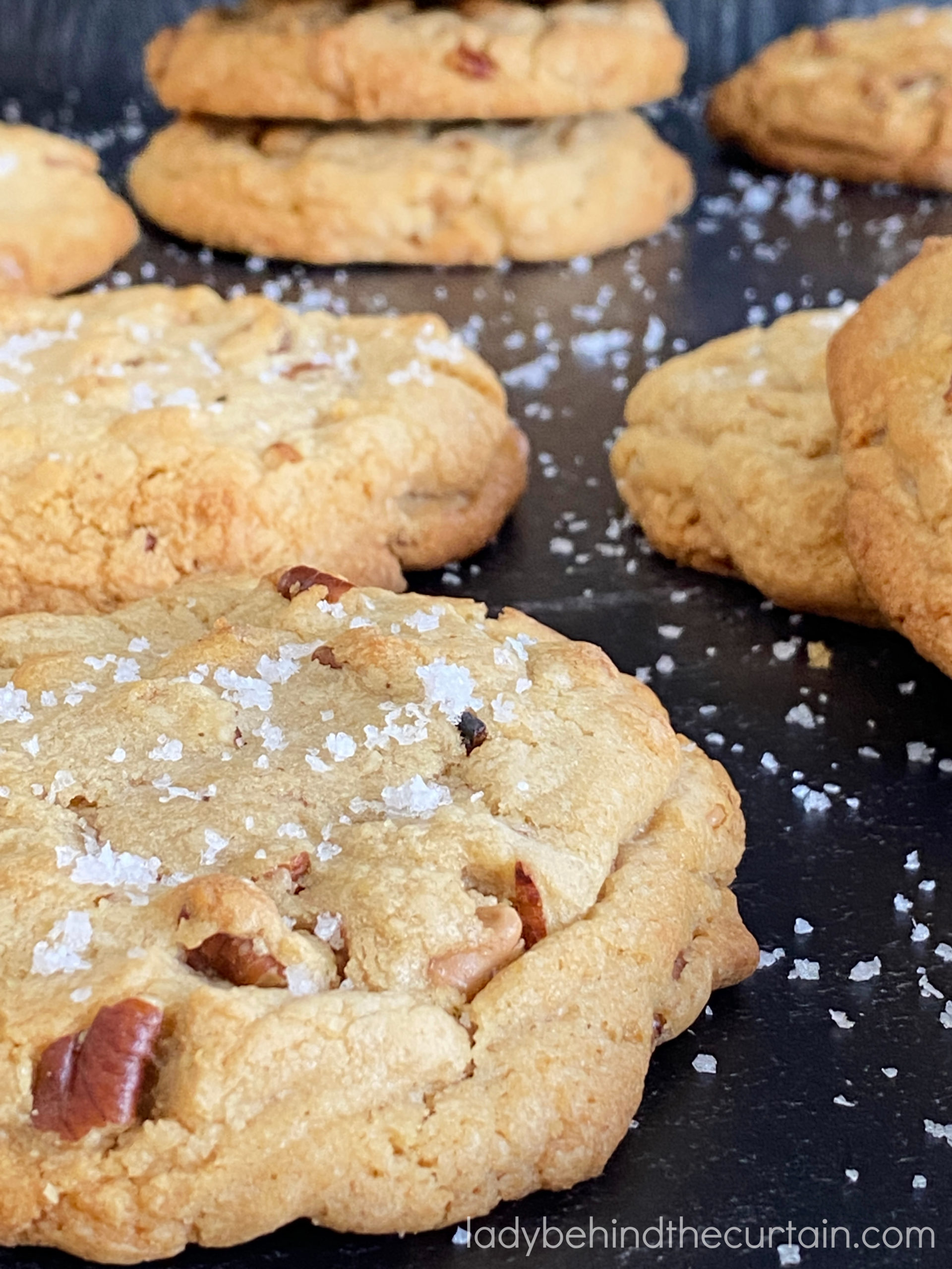 Gourmet Thick Salted Caramel Cookies