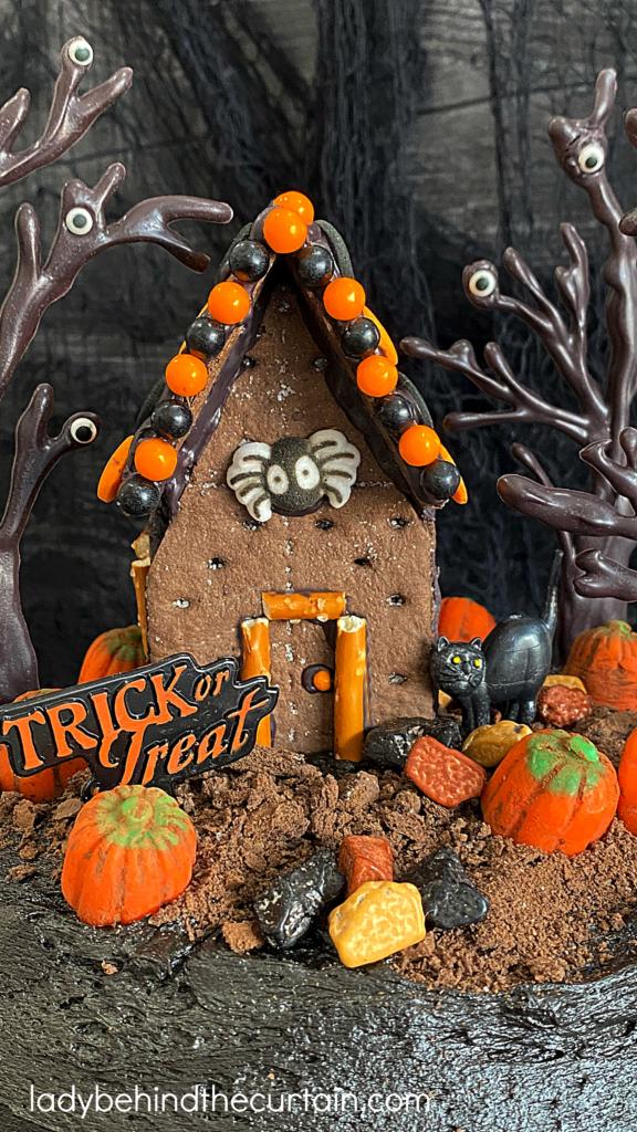 Halloween Haunted House Dark Chocolate Cake